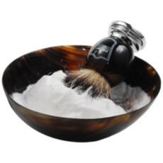 Чаша для бритья из натурального рога Parker Genuine Ox Horn Palm Lathering Bowl