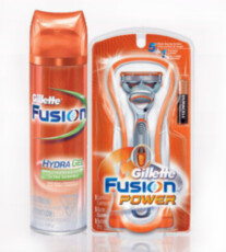 Набор Gillette Fusion Power Razor + Gillette Fusion Hydra Gel Sensitive Skin