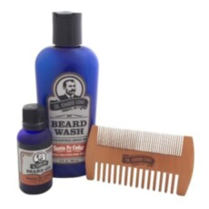 Набор по уходу за бородой Col Conk  Santa Fe Cedar Beard Kit with 2 sided comb