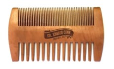 Гребень для бороды Col Conk Wood Beard Comb Fine & Coarse Tooth