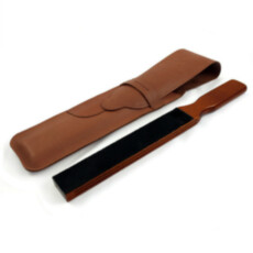 Строп для правки опасной бритвы Thiers-Issard Luxury Travel Strop In Brown Barenia Leather Case